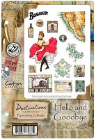 Crafter's Companion - Destinations by Kathleen Francour - Hello and Goodbye EZMount Stamp Set