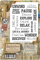 Crafter's Companion - Destinations by Kathleen Francour - Life Is A Journey EZMount Stamp Set