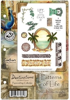 Crafter's Companion - Destinations by Kathleen Francour - Patterns of Life EZMount Stamp Set