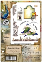Crafter's Companion - Destinations by Kathleen Francour - Spirit of Adventure EZMount Stamp Set