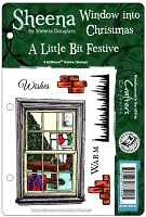 Crafter's Companion - A Little Bit Festive Cling Stamps by Sheena Douglass - Window into Christmas