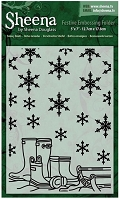 Crafter's Companion - Festive Embossing folder by Sheena Douglass - Snowy Boots