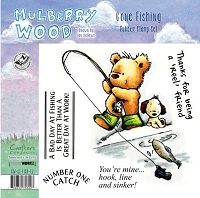 Crafter's Companion - Mulberry Wood - EZMount Stamp - Gone Fishing