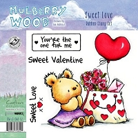 Crafter's Companion - Mulberry Wood - EZMount Stamp - Sweet Love