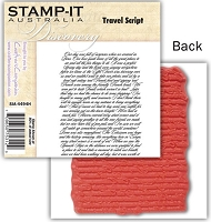 Stamp-It -EZ Mount Rubber Stamp - Travel Script