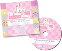 Strawberry Kisses - Papercrafting CD-ROM