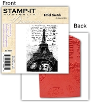Stamp-It -EZ Mount Rubber Stamp - Eiffel Sketch
