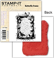 Stamp-It -EZ Mount Rubber Stamp - Butterfly Frame