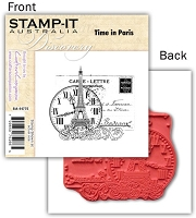 Stamp-It -EZ Mount Rubber Stamp - Time in Paris