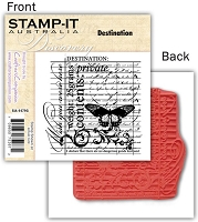 Stamp-It -EZ Mount Rubber Stamp - Destination