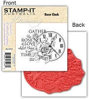 Stamp-It -EZ Mount Rubber Stamp - Rose Clock