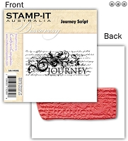 Stamp-It -EZ Mount Rubber Stamp - Journey Script