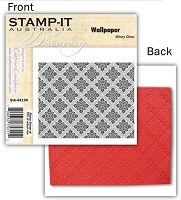 Stamp-It -EZ Mount Rubber Stamp - Wallpaper