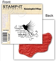 Stamp-It -EZ Mount Rubber Stamp - Hummingbird Wings