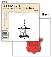 Stamp-It -EZ Mount Rubber Stamp - Bird Cage