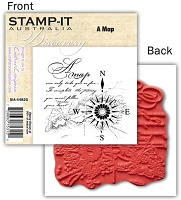 Stamp-It -EZ Mount Rubber Stamp - A Map
