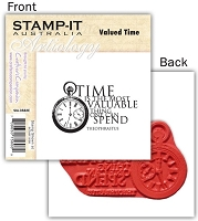 Stamp-It -EZ Mount Rubber Stamp - Valued Time