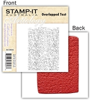 Stamp-It -EZ Mount Rubber Stamp - Overlapped Text