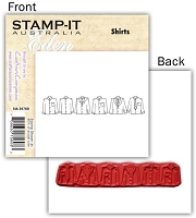 Stamp-It -EZ Mount Rubber Stamp - Shirts