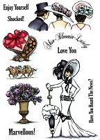 Crafter's Companion - Sheena Unmounted Rubber Stamp - As Scene on Screen - Wouldn't It Be Lovely 2