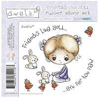 S.W.A.L.K. Unmounted Rubber Stamp Collection 2 - Friends like you