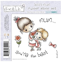 S.W.A.L.K. Unmounted Rubber Stamp Collection 2 - Best Mum