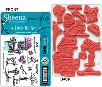 Crafter's Companion - Sheena Cling EZMount Stamp - A Little Bit Scenic -  French 50's Cafe by Sheena Douglass