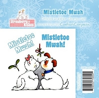 Strawberry Kisses - Rubber Stamp Set - Mistletoe Mwah