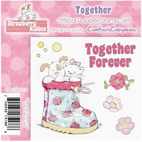 Strawberry Kisses - Rubber Stamp Set - Together