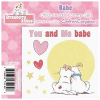 Strawberry Kisses - Rubber Stamp Set - Babe