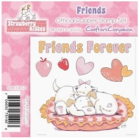 Strawberry Kisses - Rubber Stamp Set - Friends