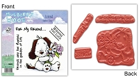 Mulberry Wood - EZ Mount Rubber Stamp Set - Friend