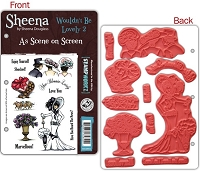Crafter's Companion - Sheena Cling EZMount Stamp Set- As Seen On Screen - Wouldn't It Be Lovely 2