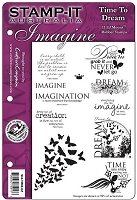 Stamp-It Australia - EZ Mount Cling Stamp Set - Time to Dream Set 62