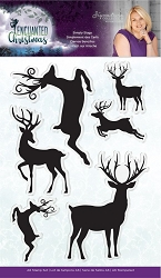 Crafter's Companion - Enchanted Christmas Collection by Sara Davies - Simply Stags Clear Stamps