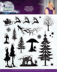 Crafter's Companion - Enchanted Christmas Collection by Sara Davies - Fantasy Forest Clear Stamps