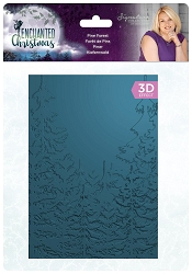 Crafter's Companion - Enchanted Christmas Collection by Sara Davies - 5x7 Pine Forest 3D Embossing Folder