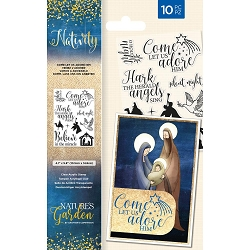 Crafter's Companion - Nativity Collection - Come Let Us Adore Him Clear Stamp