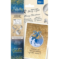 Crafter's Companion - Nativity Collection - A Christmas Scene Clear Stamp & Die Set