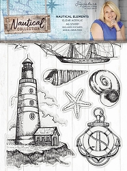 Crafter's Companion - Nautical Collection by Sara Davies - Nautical Elements Clear Stamps