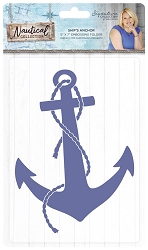 Crafter's Companion - Nautical Collection by Sara Davies - 5x7 Ship's Anchor Embossing Folder