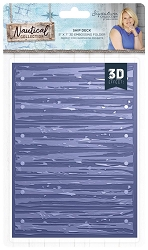 Crafter's Companion - Nautical Collection by Sara Davies - 5x7 Ship Deck 3D Embossing Folder