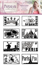 Crafter's Companion - Parisian Collection by Sara Davies - French Stamps Clear Stamps