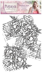 Crafter's Companion - Parisian Collection by Sara Davies - Provencal Peony Clear Stamps