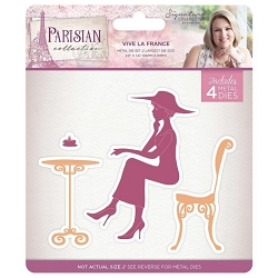 Crafter's Companion - Parisian Collection by Sara Davies - Vive La France Die