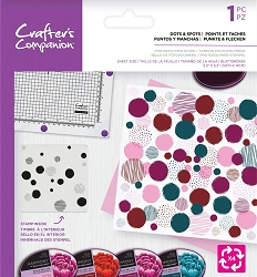 Crafter's Companion - Dots & Spots Background Rotation Clear Stamp
