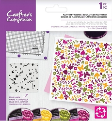 Crafter's Companion - Fluttery Wishes Background Rotation Clear Stamp