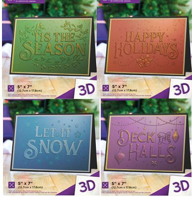 Crafter's Companion - Christmas 3D Embossing Folders