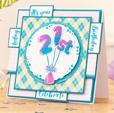 Crafter's Companion - Balloon Alphabet & Numbers stamp & die sets