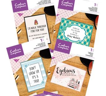 Crafter's Companion - Quirky Sentiment Stamps
